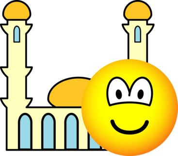 Mosque going emoticon
