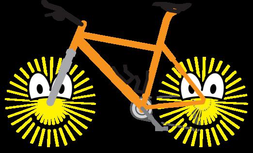 Mountain bike emoticon