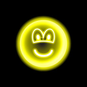 Neon light emoticon
