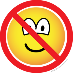 No emoticons