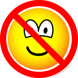 No sad emoticons