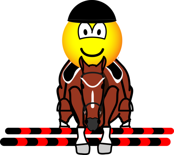 Horse show jumping emoticon