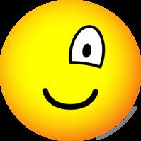 One eyed emoticon