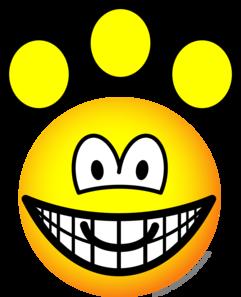 Paw print emoticon