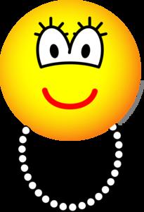 Pearl necklace emoticon