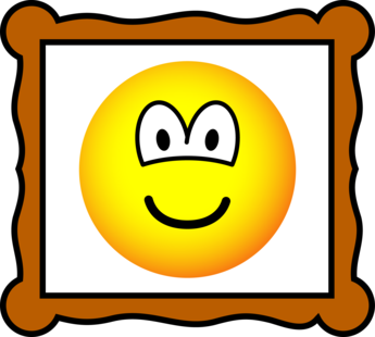 Picture frame emoticon