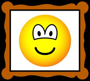 Picture frame emoticon