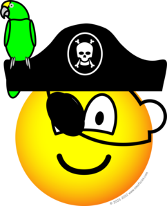 Pirate with parrot emoticon