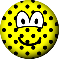Polka dotted emoticon