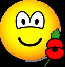 Poppy emoticon : Emoticons @ emofaces com