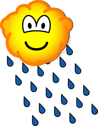 Rain cloud emoticon