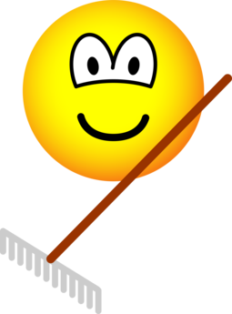 Raking emoticon
