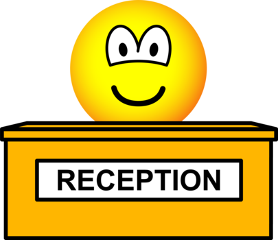 Reception emoticon
