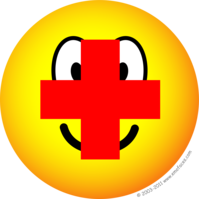 Red cross emoticon