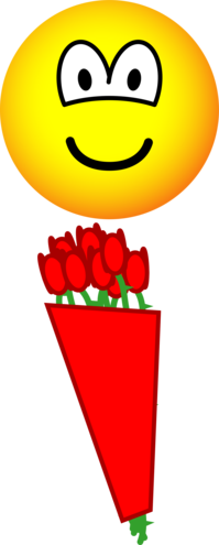 Red roses emoticon