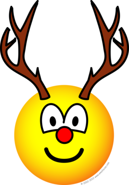 Rudolph the red nosed reindeer emoticon