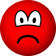 Sad red emoticon