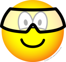 Safety goggles emoticon