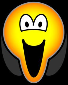 Scream emoticon