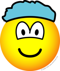 Shower cap emoticon