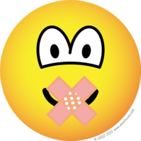 Silent emoticon