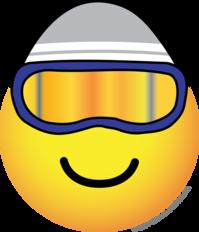 Skier emoticon