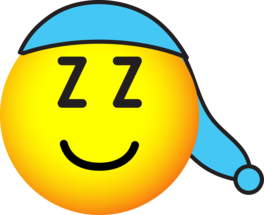 Sleeping cap emoticon