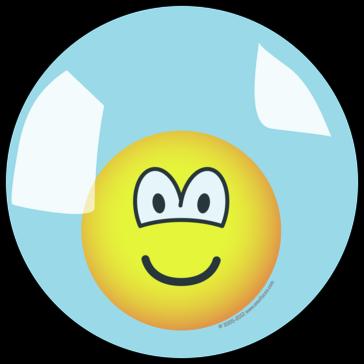 Emoticon living in a bubble