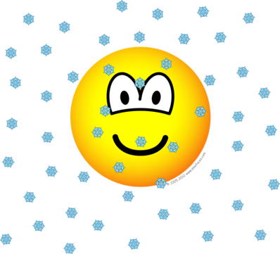 In the snow emoticon