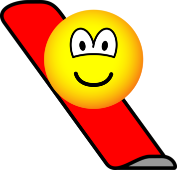 Snow boarding emoticon