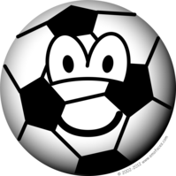 Soccer ball emoticon