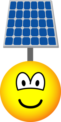 Solar powered emoticon