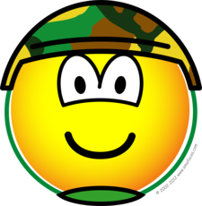 Soldier emoticon