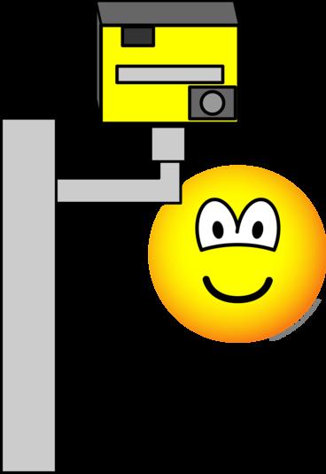 Speed camera emoticon