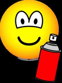 Spray painter emoticon