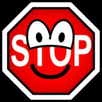 Stop sign emoticon