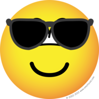 Sunglasses emoticon