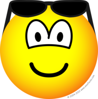 Sun glasses on head emoticon