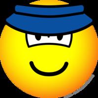 Sun visor emoticon