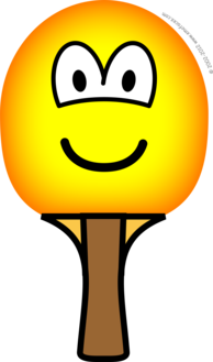 Table tennis bat emoticon