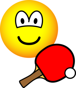 Table tennis playing emoticon