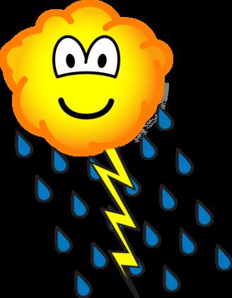 Thunder cloud emoticon