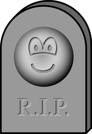 Tombstone emoticon