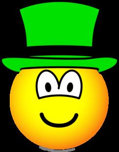 Green hat emoticon