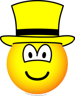 Yellow hat emoticon