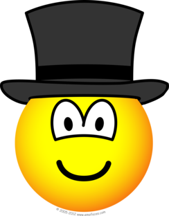 Top hat emoticon