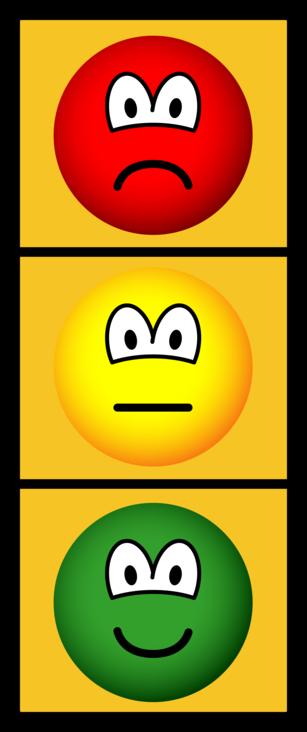 Traffic light emoticon