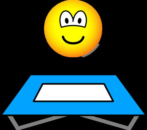 Trampoline emoticon
