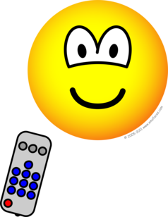 Tv remote emoticon