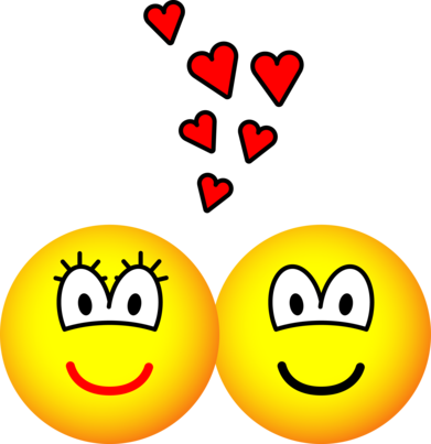Two Emoticons in love